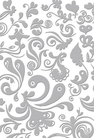 "Couture Creations Embossing Folder Serenity DAMASK 5""x7"" - Scrapbook Kyandyland"