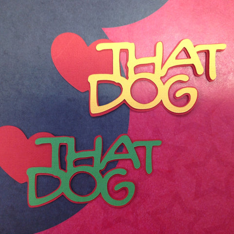 THAT DOG Disney Diecut 2pc