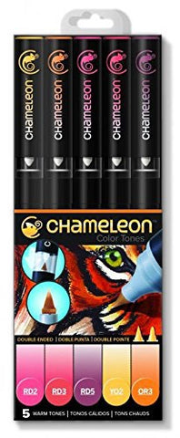 Chameleon Color Tones WARM TONES Alcohol Markers Pens 5pc Scrapbooksrus