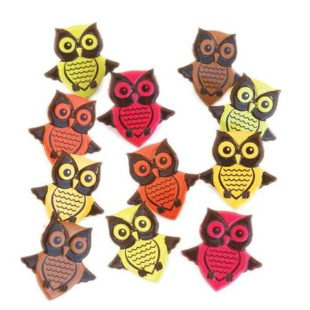 Eyelet & Outlet BRIGHT OWL Brads 12pc - Scrapbook Kyandyland