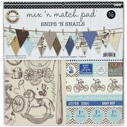 Canvascorp SNIPS & SNAILS Mix and Match Paper Pad