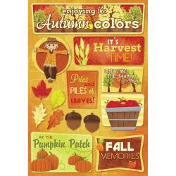 Karen Foster AUTUMN COLORS Stickers 14pc - Scrapbook Kyandyland