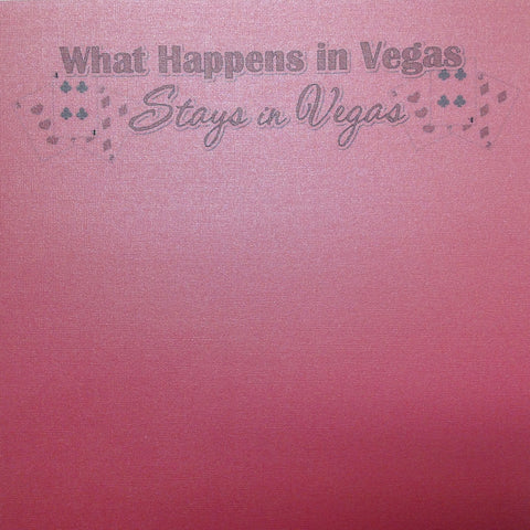 "What Happens In Vegas Feather Boa Bling 12""X12"" Scrapbook Paper"