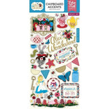 Echo Park Alice In Wonderland CHIPBOARD ACCENTS Stickers