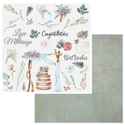 "49 and Market Wedded Bliss LASER CUT SHAPES 12""X12"" Scrapbook Scrapbooksrus"