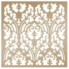 "Couture Creations Anna Griffin BOTANICAL DAMASK Stencils 8"" x 8"" Scrapbooksrus"
