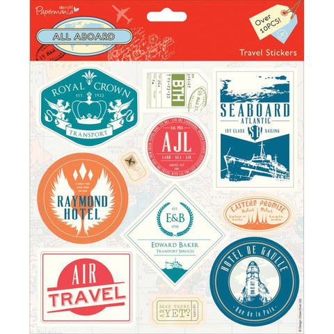 Docrafts Papermania ALL ABOARD Travel Stickers - Scrapbook Kyandyland