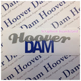 HOOVER DAM Arched Pride Laser Cut Navy Title Scrapbook Customs - Scrapbook Kyandyland