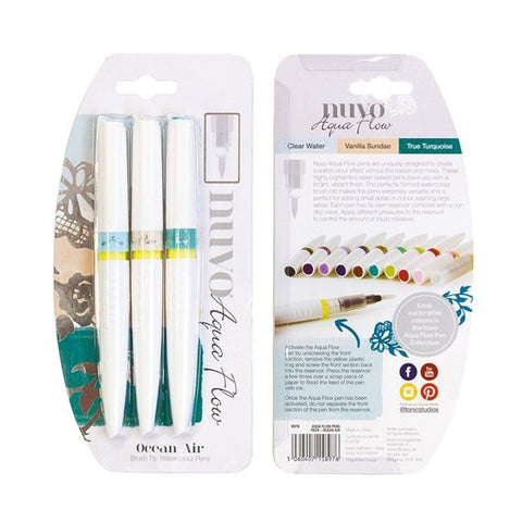 Nuvo Ocean Air Aqua Flow Watercolor Pens @scrapbooksrus