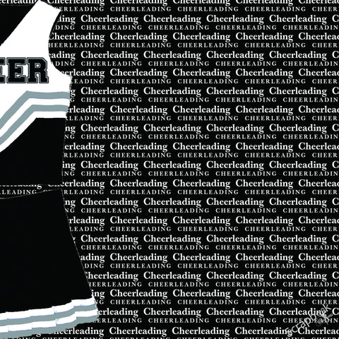 Scrapbook Customs CHEERLEADING GO BIG RIGHT 1 Sports Sheet - Scrapbook Kyandyland