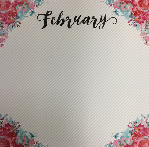 "FEBRUARY MEMORIES 12""X12"" Scrapbook Customs Paper Scrapbooksrus"