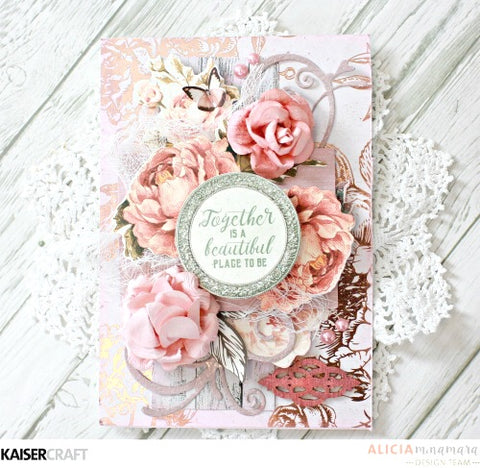 "Kaisercraft Sage And Grace THOUGHTS 12""X12"" Scrapbook Sheet Scrapbooksrus"
