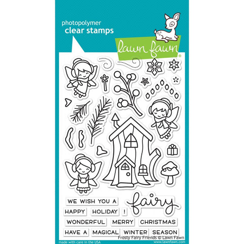 "Lawn Fawn FROSTY FAIRY FRIENDS Clear Stamps 4""X6"""