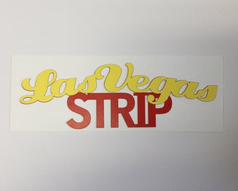 "LAS VEGAS STRIP Arched Pride Travel Laser Cuts 3""X9""  1pc LV Scrapbooksrus"