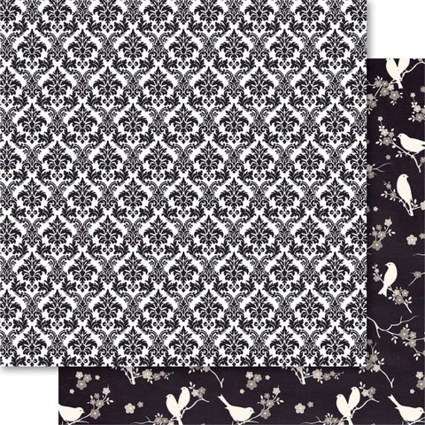 Bella True Love 12x12 Scrapbooking Paper DAMASK