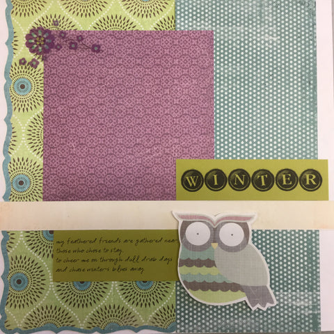 Premade WINTER 12X12 Scrapbook Pages Scrapbooksrus