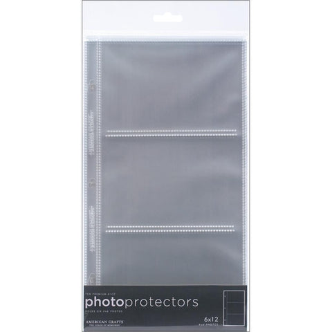 "American Crafts 6""X 12"" Page Protectors Side Loading 10pc - Scrapbook Kyandyland"
