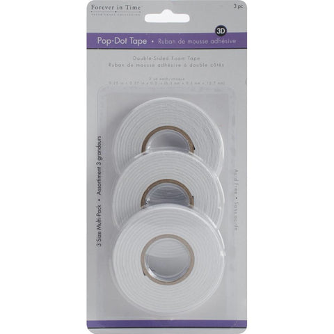 Forever in Time POP DOT FOAM TAPE 3pc