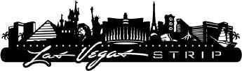 "LAS VEGAS STRIP Skyline Travel LasVegas Laser Cuts 3""X12"" - Scrapbook Kyandyland"
