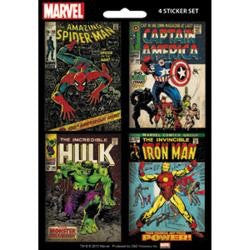 "MARVEL COMICS Mini Sticker Set 4pc 5""X7"" - Scrapbook Kyandyland"