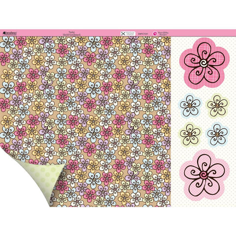 Kanban Dawn Bibby Collection DAISY 12X12 Scrapbook Paper - Scrapbook Kyandyland