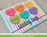 Lawn Fawn SENDING HUGS LINE BORDER Custom Craft Die Scrapbooksrus