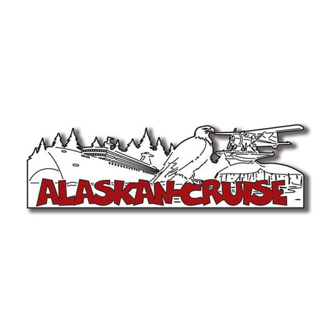 "ALASKAN CRUISE WORD Title Travel Laser Cut 1pc 2""x9"" AK Scrapbooksrus"