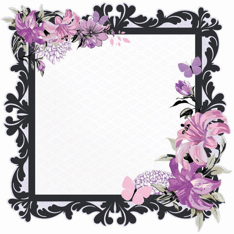 "Kaisercraft VIOLET CRUSH Grape Die-Cut Cardstock 12""X12"" - Scrapbook Kyandyland"