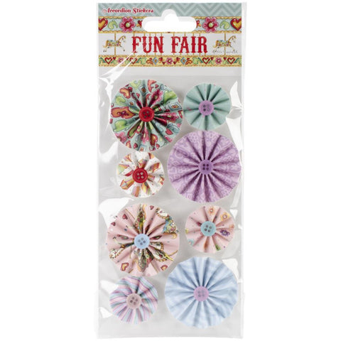 Helz Fun Fair Accordion Stickers 8 pc - Scrapbook Kyandyland