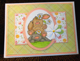 Stampingbella BUNNY PILE STUFFIES Rubber Stamp 2pc - Scrapbook Kyandyland