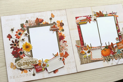 AUTUMN SPLENDER 4 Page Scrapbook Class