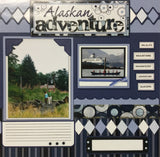 Page Kit (2) 12X12 Storytellers ALASKAN ADVENTURE Memories at Sea Cruise