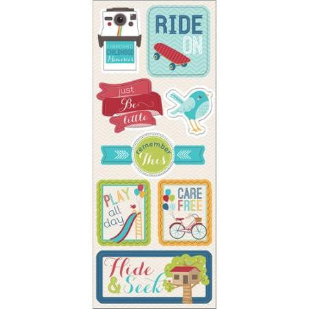 Imaginisce RIDE ON Chipboard Stickers 8pc - Scrapbook Kyandyland
