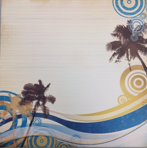 Kyandyland SUNSET BEACH 12x12 Scrapbook Papers 2pc - Scrapbook Kyandyland