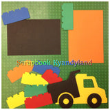 Lego Building Block Scrapbook Page Two