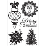 "Kaisercraft CHRISTMAS WISHES Clear Acrylic Stamps 4""X6"" 5pc Scrapbooksrus"