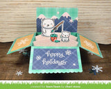 Lawn Fawn  BEARY HAPPY HOLIDAYS Clear Stamps 42 pc Scrapbooksrus