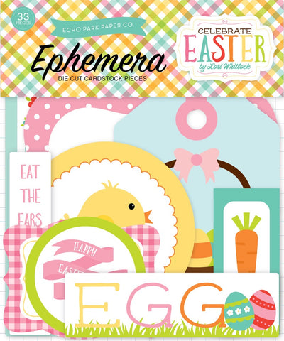 Echo Park CELEBRATE EASTER Ephemera Die Cut Scrapbooksrus
