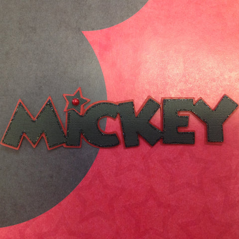 Disney MICKEY MOUSE BORDER Scrapbook Kyandyland