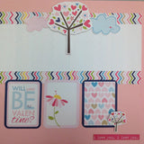 Page Kit (2) 12x12 Scrapbook Premade WILL YOU BE MY VALENTINE - Scrapbook Kyandyland