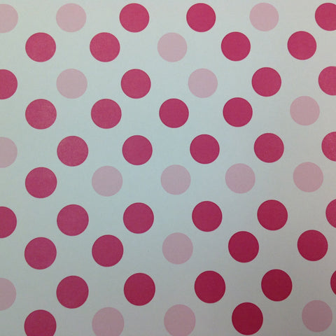 Scrapbook Customs PINK POLKA DOT 12x12 Scrapbook Paper 1 Sheet - Scrapbook Kyandyland