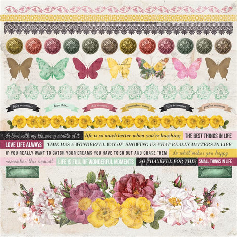 "Kaisercraft Be-You-Tiful Cardstock Sticker Sheet 12""X12"" - Scrapbook Kyandyland"
