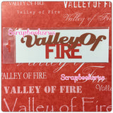 Valley of Fire Arched Pride Laser Cut Scrapbooksrus