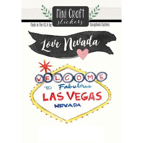 Scrapbook Customs Mini Craft Stickers Nevada Love @Scrapbooksrus
