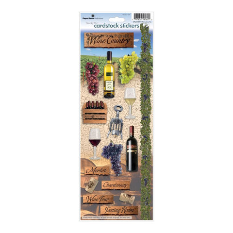 Paper House WINE COUNTRY Cardstock Stickers 17pcs Scrapbooksrus