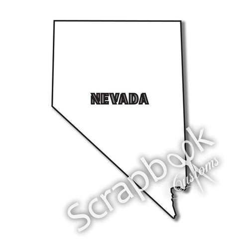 Scrapbook Customs NEVADA STATE SHAPE -A 1pc LV - Scrapbook Kyandyland