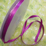 "May Arts 1/4"" SILVER EDGE SATIN Ribbon - Scrapbook Kyandyland"