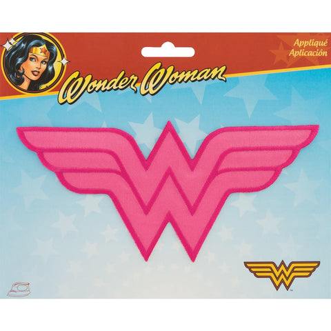DC Comics WONDER WOMAN Iron On Embroidery Patch Appliqué- Pink Scrapbooksrus