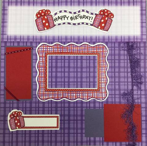 Page Kit (2) 12x12 Scrapbook HAPPY BIRTHDAY Scrapbooksrus