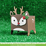 Scrapbooksrus Lawn Fawn Cuts TINY GIFT BOX DEER ADD ON Craft Die Sample